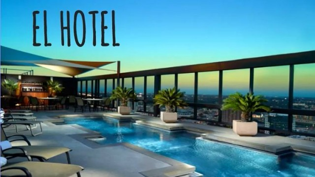 In het hotel in Spanje