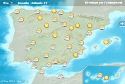 Actuele weerbericht Spanje
