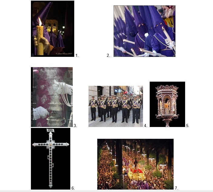 Oefening foto's Semana Santa